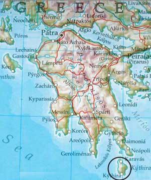 Wandern Insel Kythira